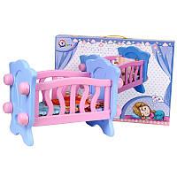 Кроватка для куклы ТехноК 4166 в кор.54-44-30 см