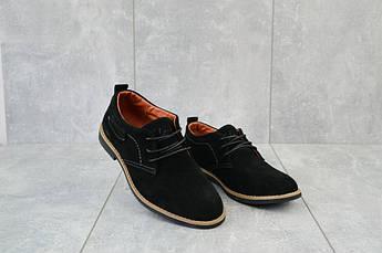 Подростковые туфли замшевые весна/осень черные Yuves М6