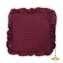 Подушка декоративная с наволочкой-чехлом с оборкой