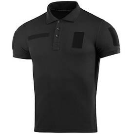M-Tac футболка поло с велкро 65/35 черная