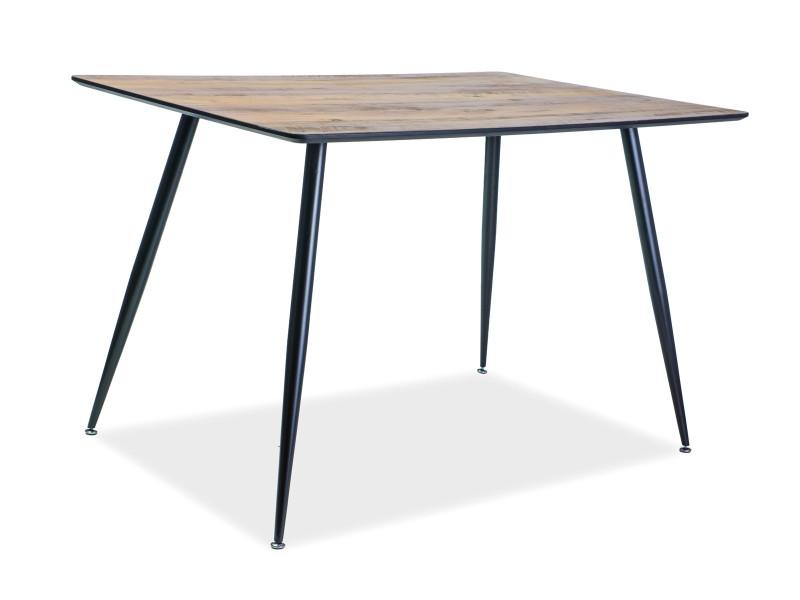 Стол деревянный кухонный обеденный на кухню столовый орех черный REMUS 120x80 (Signal)