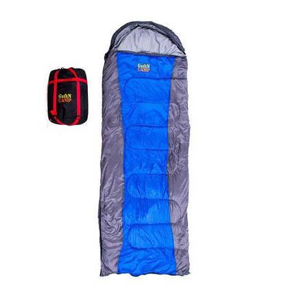 Спальный мешок GreenCamp GrC1009-BL весна-осень 450 гр/м2, фото 2