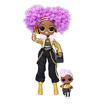 Кукла ЛОЛ Сюрприз зимнее диско Ди Джей Дива L.O.L. Surprise! O.M.G.Winter Disco 24K D.J. Fashion Doll & Sister