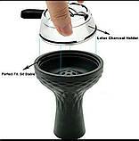 Кальян  AMY Deluxe  E 55/ new  силиконовый шланг чёрный  чаша для Кальяна силикон калауд, фото 6