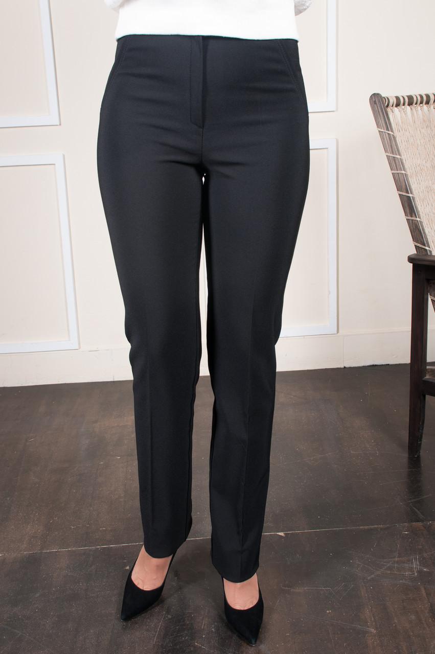 Теплые брюки Шарлота чёрные на байке