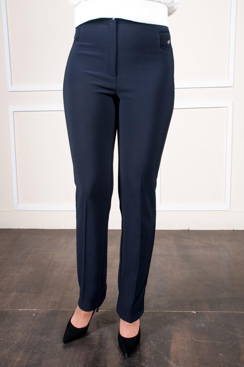 Классические брюки Фелиция синие батал