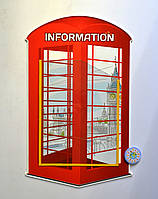 Стенд для кабинета английского языка. Телефонная будка