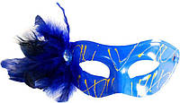 Маска венеция Изабелла (синяя) 240216-355