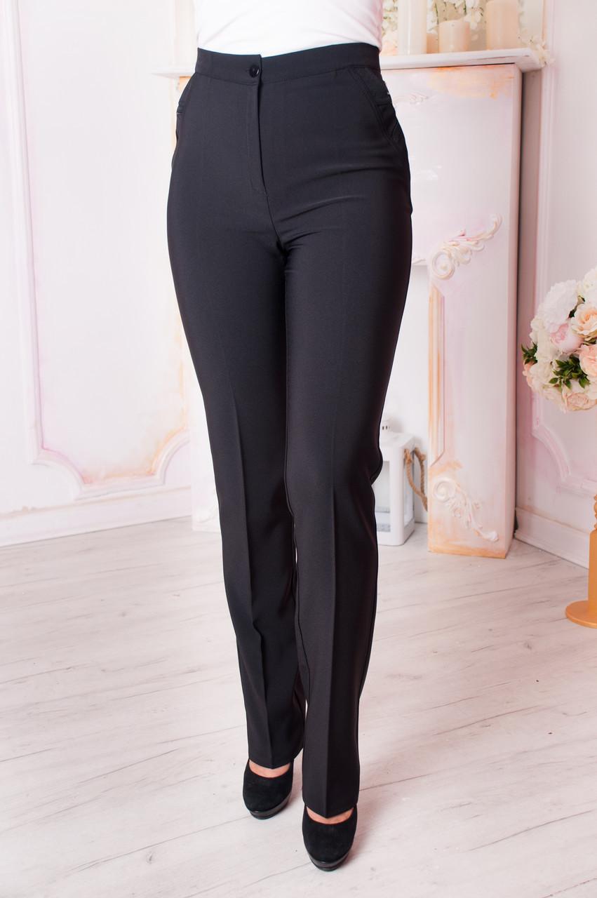 Женские брюки Вера чёрного цвета батал