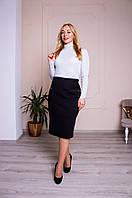 Женская теплая юбка Барбара черная, фото 1
