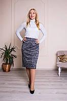 Женская теплая юбка Барбара меланж, фото 1