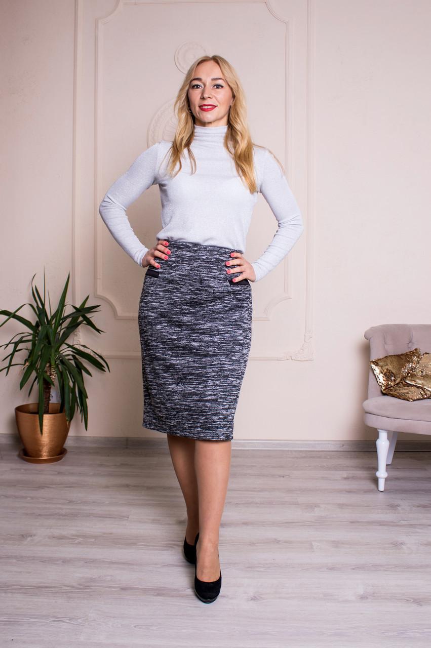 Женская теплая юбка Барбара меланж