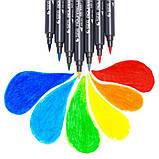 Набір двосторонніх акварельних маркерів для скетчинга з кистю на водній основі STA 48 кольорів (B141219), фото 9