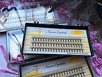 Ресницы пучковые накладные 10 мм 0.10 С шелковые черные Nesura