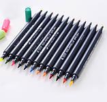 Набор двусторонних акварельных маркеров на водной основе STA 36 цветов (B141220) авкамаркеры, ВИДЕООБЗОР!, фото 5