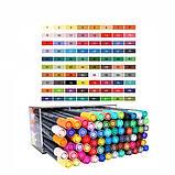 Набор двусторонних акварельных маркеров на водной основе STA 36 цветов (B141220) авкамаркеры, ВИДЕООБЗОР!, фото 6