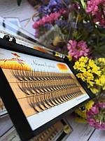 Ресницы пучковые накладные 11 мм 0.10 С шелковые черные Nesura
