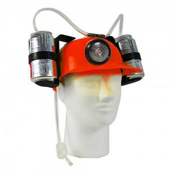 Шлем для пива МЧСника с фонарем КРАСНЫЙ