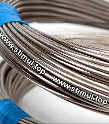 Трос нержавеющий 3 мм 7×7 для скважины (стальной канат из нержавейки)