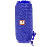 Колонка беспроводная T&G TG117 блютуз для музыки с флешкой и картой памяти Blue (3532-10296)