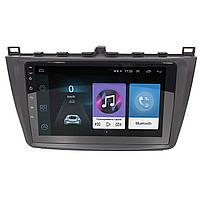 Штатная автомобильная магнитола 9 дюймов Mazda 6 (2008-2014 г.) Android 8.1 Go Wi Fi 4G GPS AM/FM радио Can модуль (3610-10918)