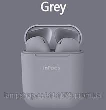 """Беспроводные Bluetooth Наушники """"Apple inPods 12 TWS"""" Grey"""