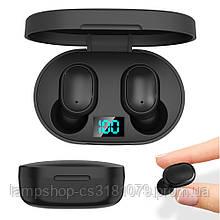 Беспроводные Bluetooth Наушники E6s Black (Xiaomi Airdots) с LED дисплеем
