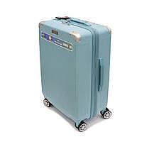 Стильный пластиковый чемодан на 4-колесах 112 л Airtex Diome ментоловый