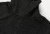 Жіночий боді Rapwriter Ameli з блискітками, що облягає, з високим коміром, довгий рукав, чорний, фото 5