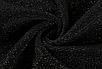 Жіночий боді Rapwriter Ameli з блискітками, що облягає, з високим коміром, довгий рукав, чорний, фото 7