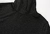 Жіночий боді Rapwriter Ameli з блискітками, що облягає, з високим коміром, довгий рукав, чорний, фото 6