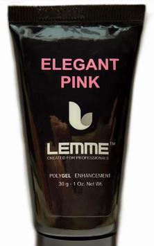 Полигель (акригель) Lemme Elegant Pink - розовый камуфляж, 30 мл