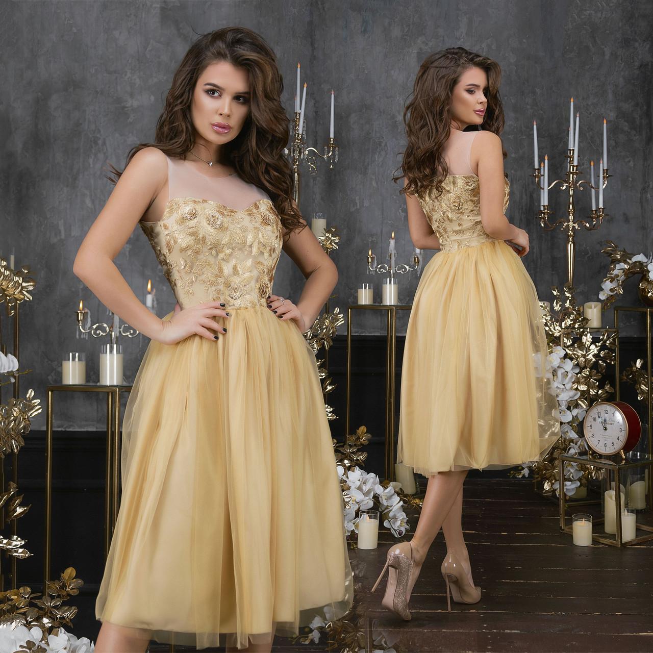 Коктейльное платье ет7313