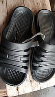 Шлёпанцы мужские пляжные из ЭВА (пена) ,чёрные, 40-46 размер.