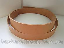 Ременная полоса из кожи растительного дубления 50 мм, толщина 3,6 - 4,0 мм (ИТАЛИЯ)