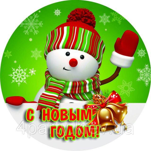 Тарілки святкові Сніговик 6 шт 141116-006