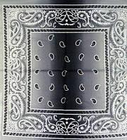 Бандана ковбойская черно-серая 10112016-001