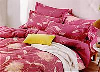 """Байковое Постельное белье """"Цветы на розовом"""" Двухспальное фланель"""