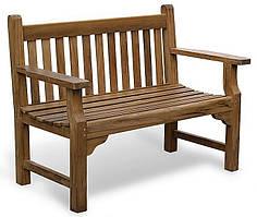 Лавочка скамья со спинкой 1240 х 670 мм от производителя Garden park bench 01
