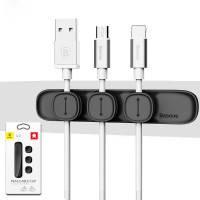 Магнитный держатель для кабелей Baseus Peas Cable Clip Black