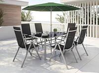 Садовая мебель JARD Стол и 6 стульев + Зонт