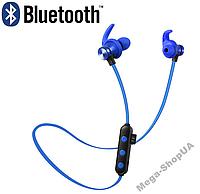 Беспроводные вакуумные наушники Sport Blue. Поддержка TF-card