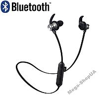 Вакуумные наушники и гарнитура беспроводные Bluetooth блютуз GU-98 / MP3 плеер / Черные. Бездротові навушники, фото 1