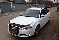 Мухобойка +на капот  AUDI A4 (кузов 8Е,В7) с 2005-2008 г.в. (Ауди А4) Vip Tuning
