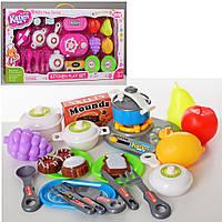 Посуда 8702-03 плита-трещотка, посуда, продукты, 2 цвета, в кор-ке,61-32,5-7см