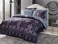 Комплект постельного белья tac bamboo freja v01 lacivert семейный синий #S/H