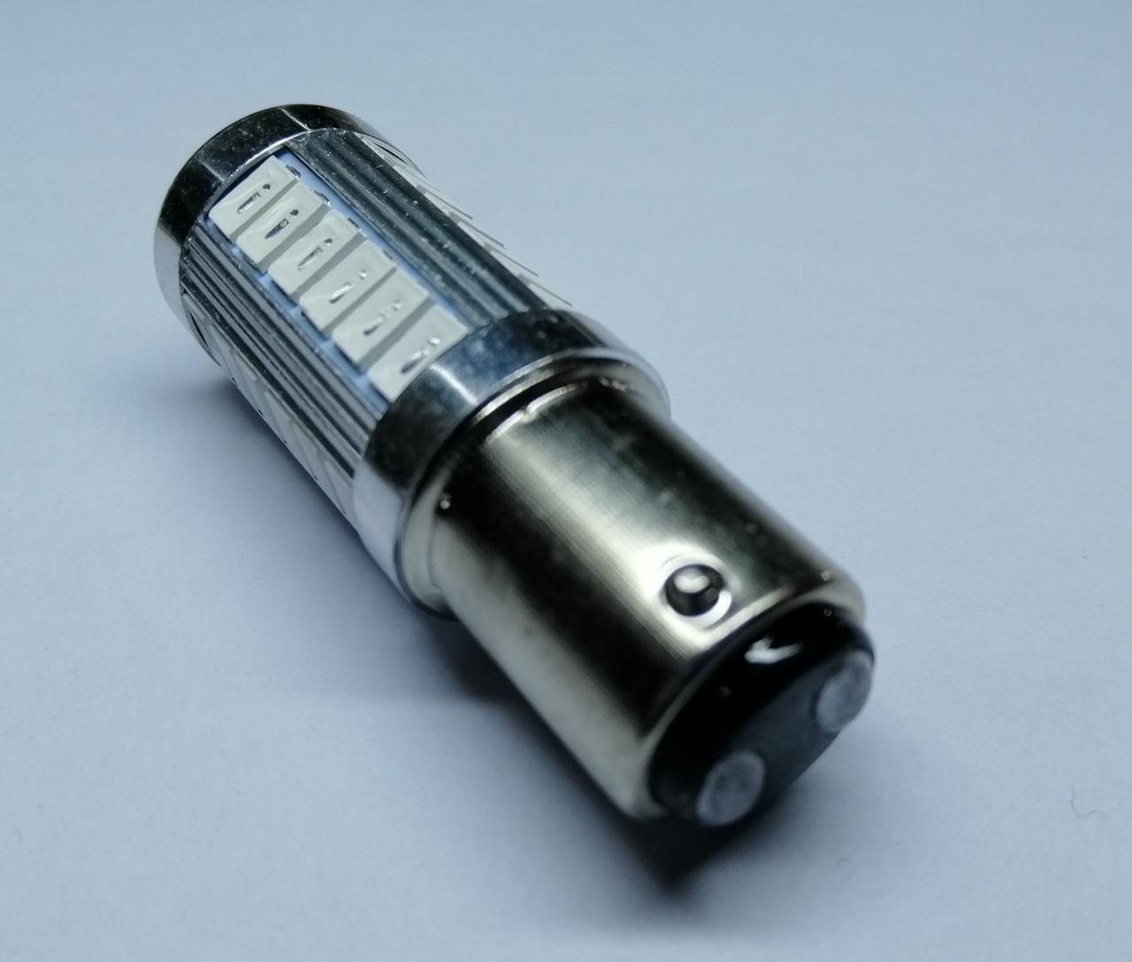 Лампа автомобільна світлодіодна ZIRY BAY15D - P21/5W, червона