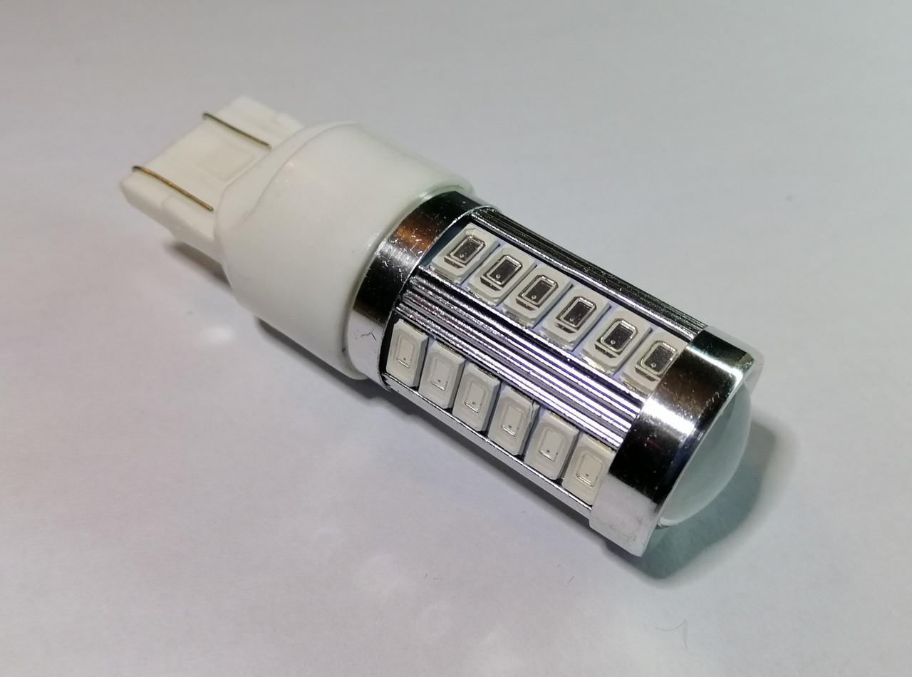 Лампа автомобільна світлодіодна ZIRY T20 - W21W, червона