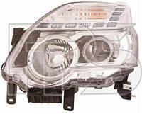Фара левая Nissan X-TRAIL 10- электрокорректор H11,H1,WY21W,W5W (DEPO)
