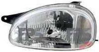 Фара левая Opel Combo -00 электрокорректор рифленое стекло (DEPO)